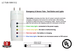 Easy To Read LED Emergency Backup Controller