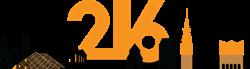 216 Digital Cleveland Skyline Logo
