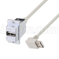 USB 2.0 ECF-Style Panel Mount USB Adapter Cables