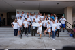 Volunteers from Hand & Stone Massage and Facial Spa kicked-off its National Conference in Orlando on Wednesday, Oct. 18, 2017, with a community service project at 4C Florida