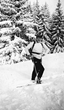 The summer Left Bank Writers Retreat in Paris explores the literary haunts and writing techniques of Ernest Hemingway, pictured here skiing in 1927.