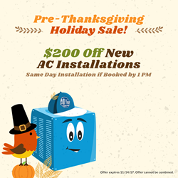 all year cooling pre-thanksgiving coupons