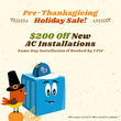 All Year Cooling Announces Their Pre-Thanksgiving Sale