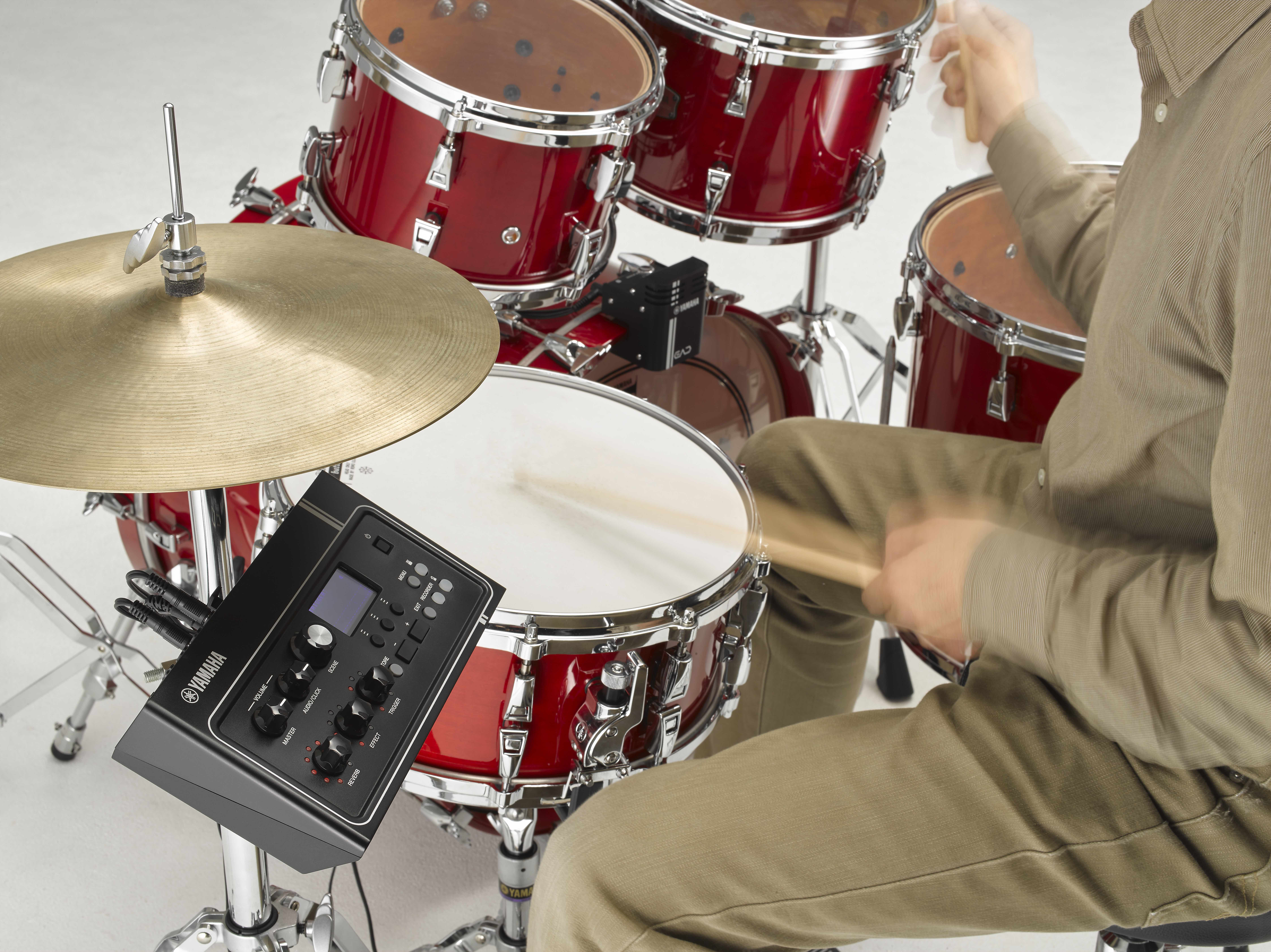 revolutionary yamaha ead10 drum module helps drummers turn an acoustic set into a dynamic. Black Bedroom Furniture Sets. Home Design Ideas