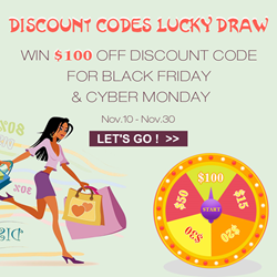 Enter The Lucky Draw To Win A $100 Discount Code for Black Friday & Cyber Monday.