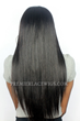 Yaki Straight Indian Remy Hair Improved 360°Anatomic Lace Wigs,150% Thick Density ,Pre-Plucked Hairline