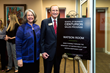 "Stetson University President Wendy B. Libby, PhD, and William ""Bill"" A. Watson Jr., Founder and Chairman of the Board, Watson Realty, unveiled the Watson Sales Lab."