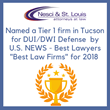 Nesci & St. Louis, PLLC, Honored as Tier 1 Law Firm for DUI Defense