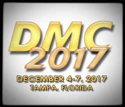 Defense Manufacturing Conference 2017 logo, yellow letters on white background