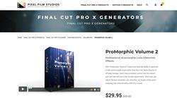ProMorphic Volume 2 - Pixel Film Studios Plugins - FCPX Plugins