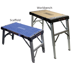 Dual Purpose Scaffold and Workbench is Durable and Easily Transported
