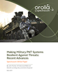 Making Military PNT Systems Resilient Against Threats: Recent Advances