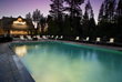 The Landing's pool provides a luxe atmosphere for pine-scented outdoor relaxation and exercise year-round.