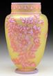 Webb Three Color Cameo Vase, estimated at $2,000-3,000.
