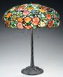 Morgan Pansy Table Lamp, estimated at $18,500-22,500.