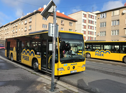 Papercast e-paper bus stop displays in Pisek