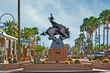 The sculpture 'Jack Knife' by artist Ed Mell, located at Marshall Way & Main Street in Scottsdale