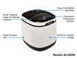 NewAir AI-250W Portable Countertop Ice Maker Features