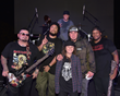 P.O.D Christian Nu Mental Band with a young fan on stage at the Indie Stock Music Festival 2017 - One of the Headliner Bands at Indie Stock Music Festival