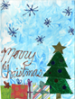 Christmas tree artwork by Arlene Heins, New Perspective Senior Living, Faribault, Minn.