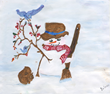 Snowman artwork by Dolores Bost of New Perspective, Waconia, Minn.