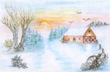 Winter scape by Joyce Todd, a resident of New Perspective Senior Living in Silvis, Ill.