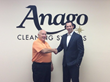David Povlitz (Left) welcoming Dave Bonnemort (Right) into the Anago family.