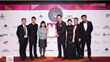 L'VOYAGE founder and chairman, Diana Chou, and staff celebrate their 'Best Charter Broker' award at IoA 2017