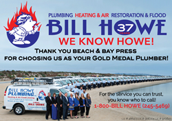 bill howe chosen gold medal plumber pacific beach