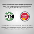 UniPro Foodservice and FTNI form Partnership to Make True Integrated Receivables Solutions a Reality for Its 800+ Member Locations