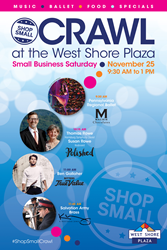 West Shore Plaza in Lemoyne, Pennsylvania, Celebrates Small Business Saturday, November 25, with Pop-Up Concerts at First Shop Small Crawl