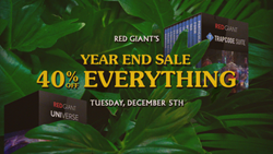 Red Giant's Annual 40%-Off Sale is Back