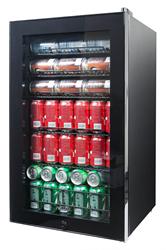 NewAir AB-1200B Black Beverage Refrigerator
