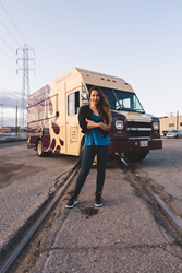 Carrie Of The Pudding Truck showcases the newly rebranded truck.