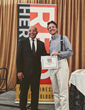 TOK.tv's CEO Fabrizio Capobianco receiving the award