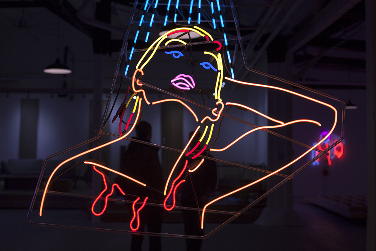 neon sign painting oil signs paintings canvas drawing artist drawings pencil speed paint sketches
