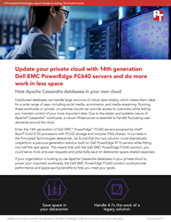 Handle more distributed database work in less space with a Dell EMC PowerEdge FC640 solution vs. a legacy solution