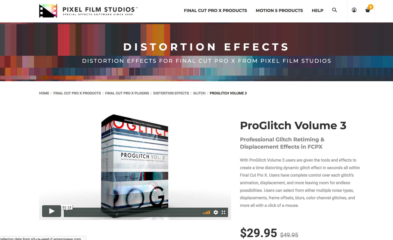 Final Cut Pro X Film Distortion Effects ProGlitch Glitch Art