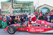 Santa Raced to The Children's Museum of Indianapolis in A Real Race Car to Greet All The Good Little Girls and Boys at The World's Largest Children's Museum