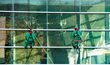 Dare-dev-elves rappelled in to greet Santa at The Children's Museum of Inidanapolis