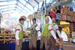 The Chorduroys (barbershop quartet) perform at Santa's Big Arrival