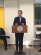 Mayor Eric Garcetti speaking at the Silver Star Apartments Grand Opening