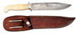 Inscribed Scagel Utility Knife with Ultra-Rare Ivory Scales and Orignal Sheath, Sold For $23,000.