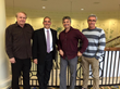 John Powers, PhD, Executive Director of ABI, with his dissertation committee at Regent University.  From left to right, Dr. John Keeler, chair, John Powers, Dr. William Brown, and Dr. Markus Pfeiffer.