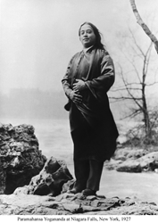 Paramahansa Yogananda at Niagara Falls, New York, 1927