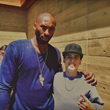 Lewi with Laker Kobe Bryant