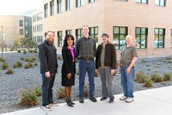 SLCC's faculty-led team Daniel Poole (l-r), Deidre Tyler, Jason Pickavance, Dan Carpenter and Tim Beagley.