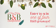 BedandBreakfast.com® Announces A Very Merry B&B Sweepstakes