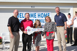 U.S. Army veteran Steve Surface received the keys to his newly built, mortgage-free home, donated by Sears.
