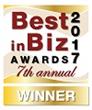 Best in Biz Awards 2017 gold winner logo